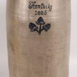 Kentucky stoneware churn dated 1836, $55,200. Image courtesy Case Antiques Inc.