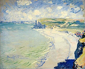 It's been 10 years since Monet's 'Beach in Pourville' was on public view. Image courtesy of Wikimedia Commons.