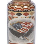 Andrew Clemens sand bottle - realized $12,925. Image courtesy of Cowan's Auctions Inc.