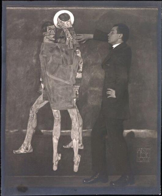 Austrian painter Egon Schiele photographed by Anton Josef Trčka, Vienna, 1914. Vintage silver gelatin print signed and dated on negative. Estimated price 50,000-60,000 Euro. ($69,800-$83,760). Photo courtesy WestLicht.
