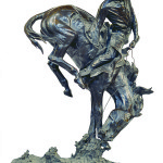 The bronze sculpture 'The Outlaw' by Frederic Remington is estimated to achieve $100,000-$200,000. Image courtesy of Clars Auction Gallery.