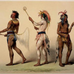 George Catlin (American, 1796-1872), Ball Players, a hand-colored lithograph shown as an example of the artist's work. Sold at auction on Dec. 16, 2006 for $4,500 on the hammer by Altermann Galleries and Auctioneers. Image courtesy of LiveAuctioneers.com Archive and Altermann Galleries and Auctioneers.