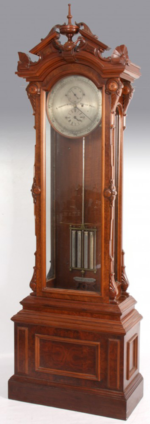 E. Howard #61 astronomical regulator, one of the most desirable clocks in the world. Image courtesy of Fontaine's Auction Gallery.