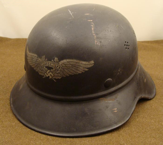 Nazi Luftschutz SS helmet, estimate $900-$1,300, to be auctioned on Friday, Nov. 5, 2010. Universal Live photo.