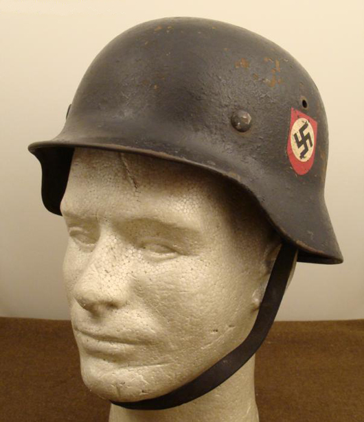 World War II Nazi SS double-decal helmet, estimate $500-$770, to be auctioned on Friday, Nov. 5, 2010. Universal Live photo.
