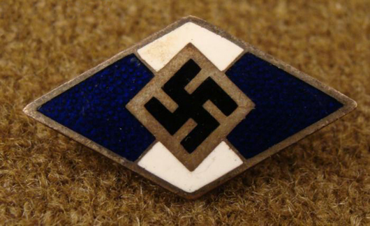 Rare Nazi foreign volunteer Hitler Youth membership pin, estimate $140-$220, to be auctioned on Friday, Nov. 5, 2010. Universal Live photo.