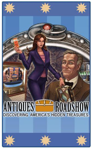 The Antiques Roadshow game enables the user to find valuable hidden antiques in more than 30 detailed locations, then have them restored and appraised at the Antiques Roadshow. Each adventure is a learning experience in which clues are found and deciphered for hidden messages. Image courtesy of WGBH and Antiques Roadshow. Copyright 2008-2011 Namco Networks America, Inc. All rights reserved.