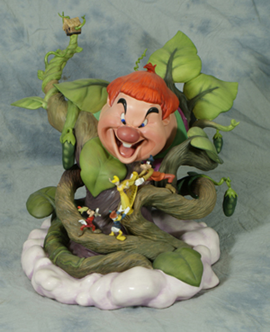 """Walt Disney Art Classic figure of Willie the Giant from """"Fun and Fancy Free,"""" 9½ inches,  limited edition titled """"Big Trouble,"""" 153/1250, original box. William H. Bunch Auctions image."""