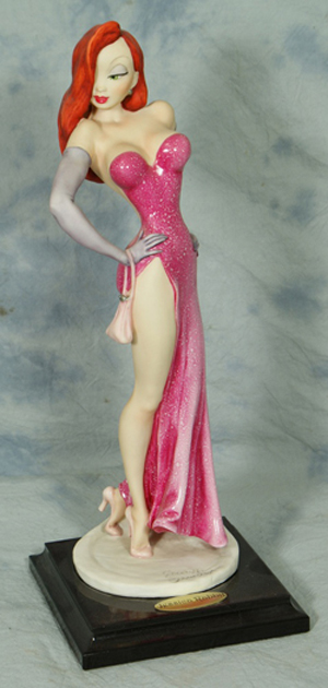 Armani porcelain figurine of Jessica Rabbit, 13 inches tall, limited edition 373/750. William H. Bunch Auctions image.