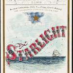 Clipper ship sailing card for Starlight published by Watson, Boston, circa 1860, Glidden & Williams' Line clipper, 6 3/4 inches x 4 1/4 inches. Sold For $4,500. Image courtesy of PBA Galleries.