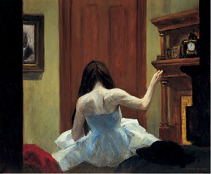 Edward Hopper 1882-1967, New York Interior, ca. 1921. Oil on canvas, Overall: 24 1/4 × 29 1/4in. (61.6 × 74.3cm). Whitney Museum of American Art, New York; Josephine N. Hopper Bequest 70.1200. ©Heirs of Josephine N. Hopper, licensed by the Whitney Museum of American Art. Photograph by Robert E. Mates.
