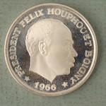 Ivory Coast Ten Francs 1966 Silver Proof Coin Est. $100-$150