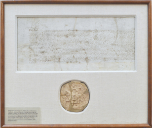 This historic signed indenture by Queen Elizabeth I, dated 1563, is estimated to achieve $40,000-$60,000. Image courtesy Clars Auction Gallery.