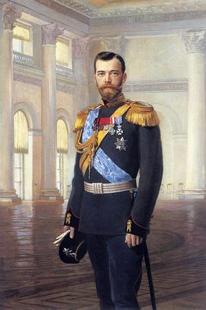 Portrait of Czar Nicholas II of Russia, painted by Earnest Lipgart (1847-1932).