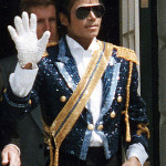 Michael Jackson in a photo taken at The White House on May 14, 1984. White House photo from the National Archives and Records Administration.