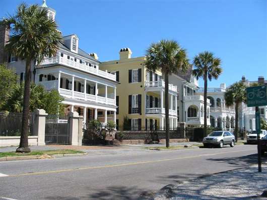 Charleston is South Carolina's oldest city and is home to many significant Civil War-era antiques. Show here are some of the gracious Southern-style homes in Charleston's Battery Park. Photo by Frank Buchalski, licensed under the Creative Commons Attribution 2.0 Generic license.