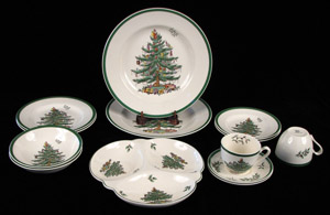 ceramics collector spodes christmas tree pattern - Christmas Ceramics