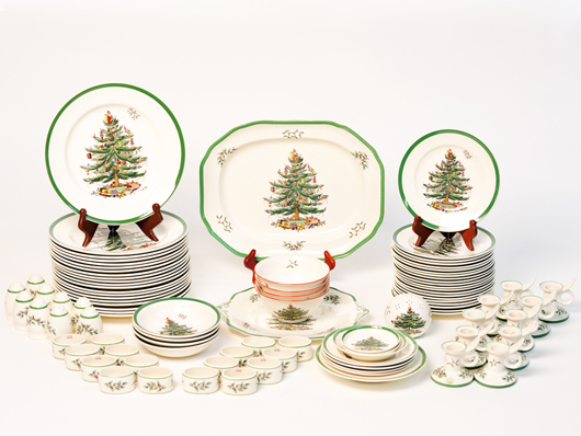 Just in time for the holidays this extensive Spode Christmas service was sold in November & Ceramics Collector: Spodeu0027s Christmas Tree Pattern