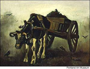 Vincent van Gogh (Dutch, 1853-1890), The Ox-Cart. Image courtesy of Portland Art Museum.