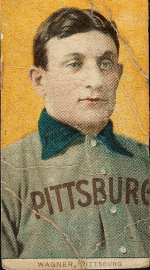 After the original winning bidder failed to consummate his purchase, a Philadelphia cardiologist stepped up to the plate and paid the auction price - $220,000 - for this rare Honus Wagner baseball card, one of about 60 known to exist. Image courtesy of Heritage Auction Galleries.