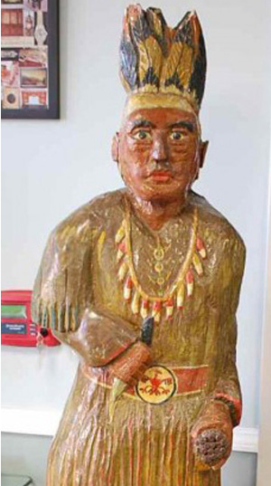 Early cigar store Indian to light up Four Seasons auction Jan. 1