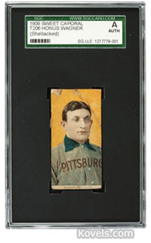 Honus Wagner baseball card. Image courtesy of Heritage Auction Galleries.