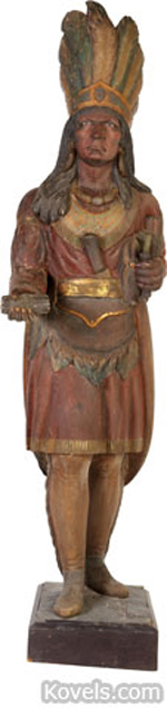 Cigar store Indian. Image courtesy of Heritage Auction Galleries.