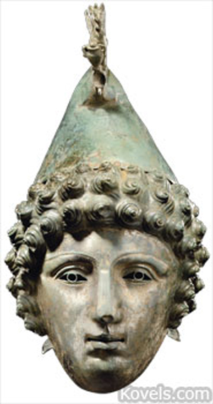 Roman helmet. Image courtesy of Christie's London.