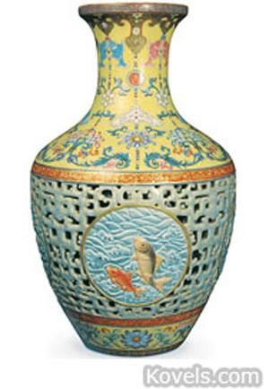 $86 million Chinese vase. Image courtesy of Bainbridge's.