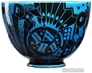Art pottery 'Jazz Bowl.' Image courtesy of Rago Arts and Auction Center.