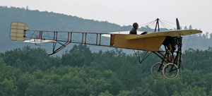 This vintage Bleriot monoplane is similar to the one French aviator Roland Garros flew over Fort Worth, Texas, a century ago. Image by Kogo, courtesy of Wikimedia Commons.