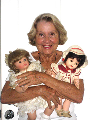 Doll specialist Jane Greenwalt. Image courtesy of the West Palm Beach Antiques Festival.