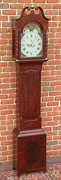 Federal inlaid tall case clock, circa 1810. Estimate: $3,000-$4,000. Image courtesy of T. Glenn Horst & Son Inc.