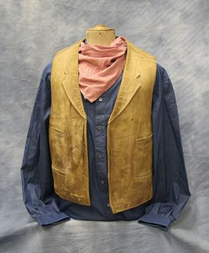 John Wayne's 'True Grit' vest, shirt and neckerchief has a $20,000-$30,000 estimate. Image courtesy of High Noon Western Americana.