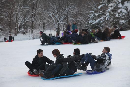 No school today! Let's go sledding! Photo by Julian R. Ellison.