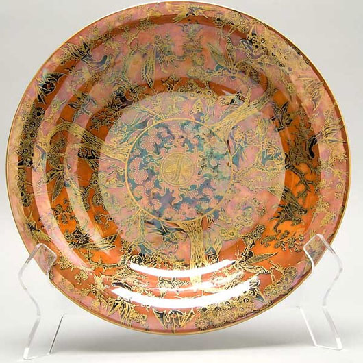 Wedgwood Fairyland Luster bowl, Daisy Makeig Jones, 1920s. Estimate: $3,000-$4,000. Image courtesy of Michaan's Auctions.