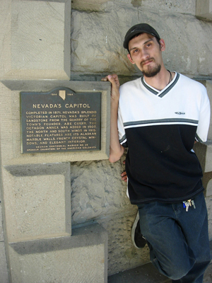 Some Nevada historical markers are easy to locate, like the plaque on Nevada's Capitol in Carson City. Image courtesy of Paul Sebesta.