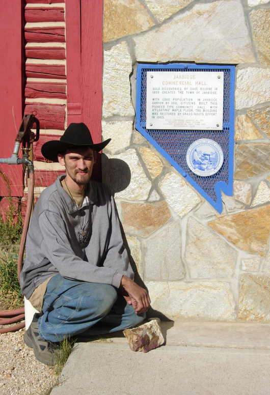Jarbine, Nev., is not on some maps, but Paul Sebesta's website tells explorer's how to find the remort historical site. Image courtesy of Paul Sebesta.