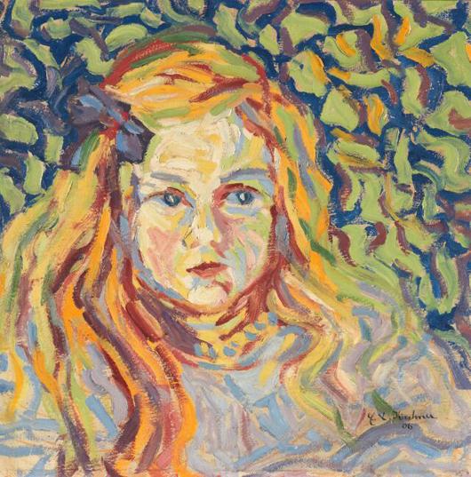 Die bedeutende impressionistische Arbeit 'Kinderköpfchen' von Ernst Ludwig Kirchner wurde für 1.740.000 Euros von Ketterer Kunst in München verkauft. Foto freundlichst überlassen von Ketterer Kunst.