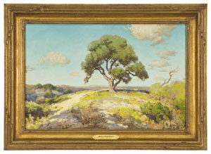 'In the Hills, South Texas' by Julian Onderdonk brought the top price at the first Dallas Fine Art Auction, selling for $101,575. Image courtesy of Dallas Fine Art Auction.
