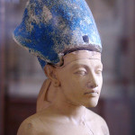 The statue of Pharaoh Akhenaten was found beside a trash can. Image by Jon Bodsworth, courtesy of Wikimedia Commons.