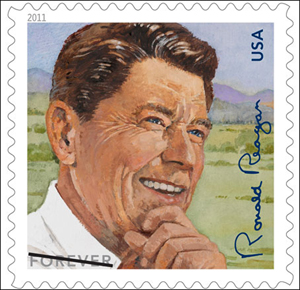 U S  postage stamp honors Reagan's 100th birthday
