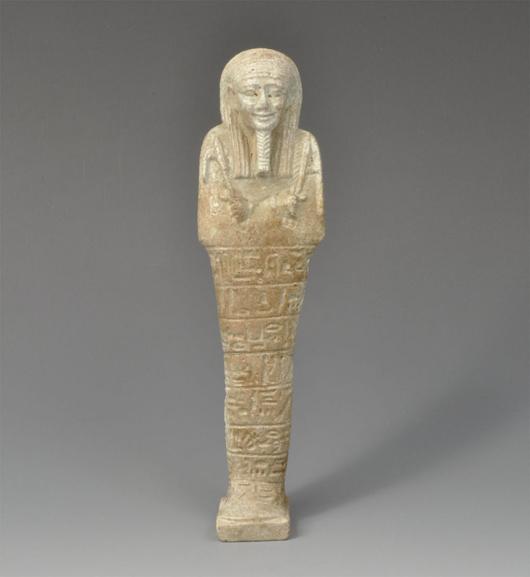 Egyptian Shabti figurine. Estimate: $3,000. Image courtesy of TimeLine Auctions.