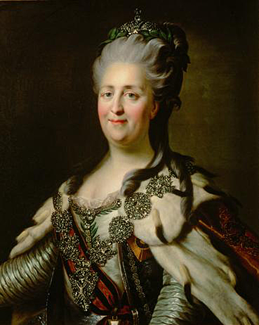 One of the documents returned to Russia was an 18th-century decree by Empress Catherine the Great. Image courtesy of Wikimedia Commons.