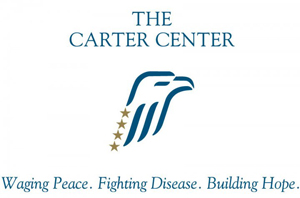 Copyrighted logo of The Carter Center, Inc. Fair use of low-resolution image in accordance with U.S. Copyright Law. All rights reserved, The Carter Center.