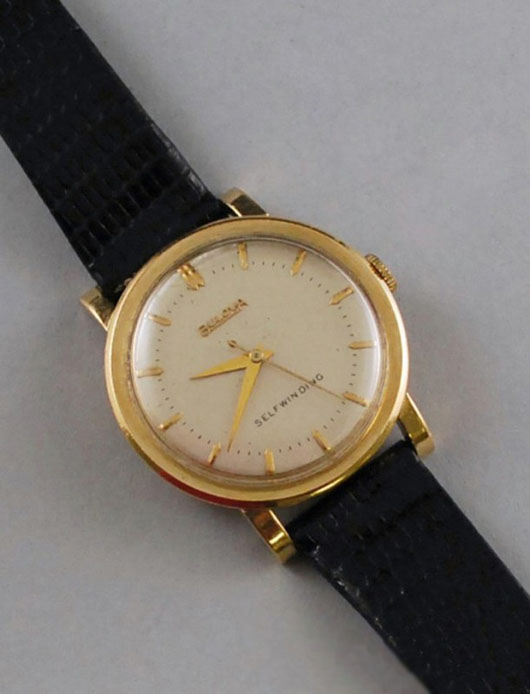 Gentleman's 14K yellow gold Bulova watch. Auctioned for  $300 on Dec. 15, 2010. Image courtesy of LiveAuctioneers.com Archive and Skinner Inc.