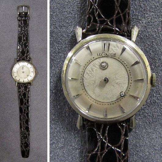 LeCoultre Mystery Dial watch. Auctioned for $750 on Nov. 21, 2010. Image courtesy of LiveAuctioneers.com Archive and William J. Jenack Auctioneers.