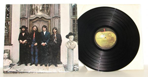 John Lennon-signed 'The Beatles Again' album, which was released in 1970. Image courtesy of LiveAuctioneers Archive and Philip Weiss Auctions.