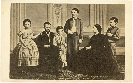 A Carte De Visite Of The Grant Family Pictures Youngest Son Jesse Standing To