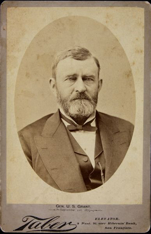 This cabinet card picturing Ulysses S. Grant is said to have come from the family. Image courtesy of LiveAuctioneers Archive and Kaminski Auctions.